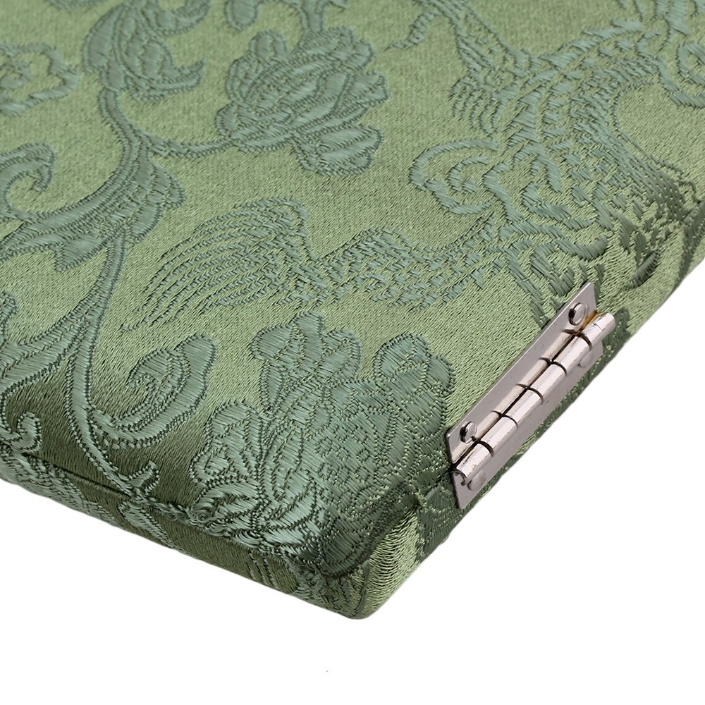 BQLZR Green Silk Wood Bassoon Reed Box Reed Case with Flannel Slot Inside for 10-Reeds Pack of 5 by BQLZR (Image #5)
