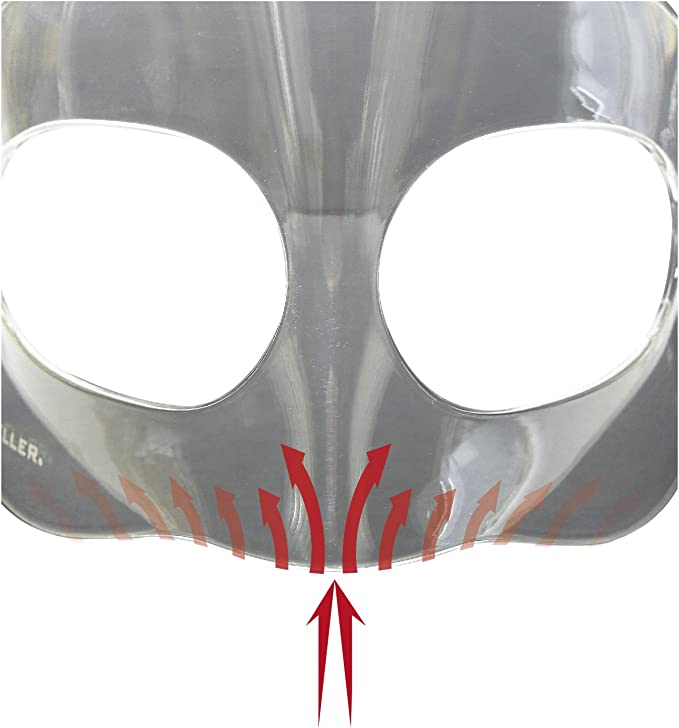 Maschera Protettiva Trasparente 1 PCS Copertura facciale Leggera Riutilizzabile per Proteggere Gli Occhi Il Naso e la Bocca degli Adulti CZYSKY Occhiali Softair antiappannamento