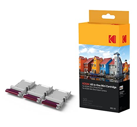 Kodak NEW Mini 2 Photo Printer Cartridge MC All In One Paper Color