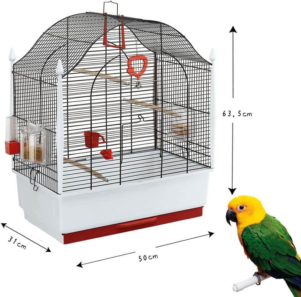 50 x 31 x 63.5 cm Black Ferplast Villa Bird Cage