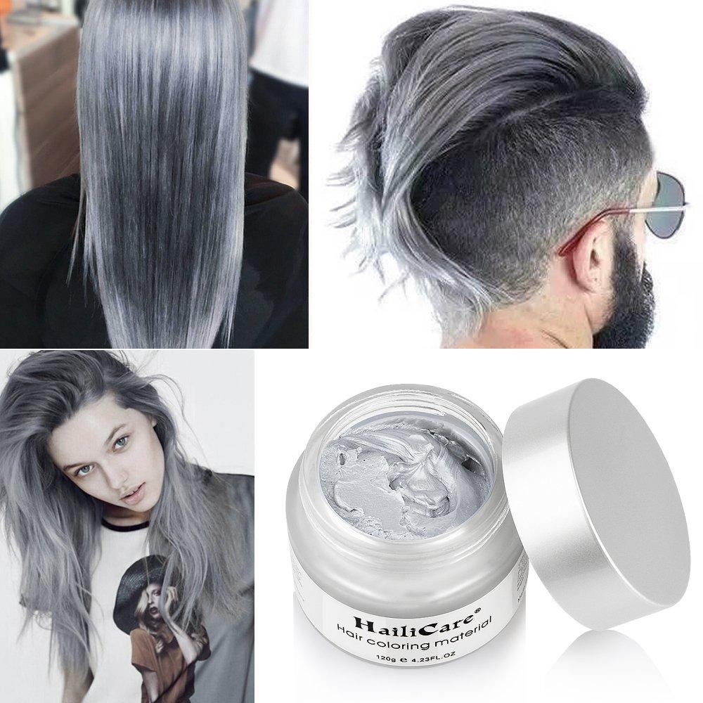 Amazon Hailicare Silver Gray Temporary Hair Dye Wax 423 Oz