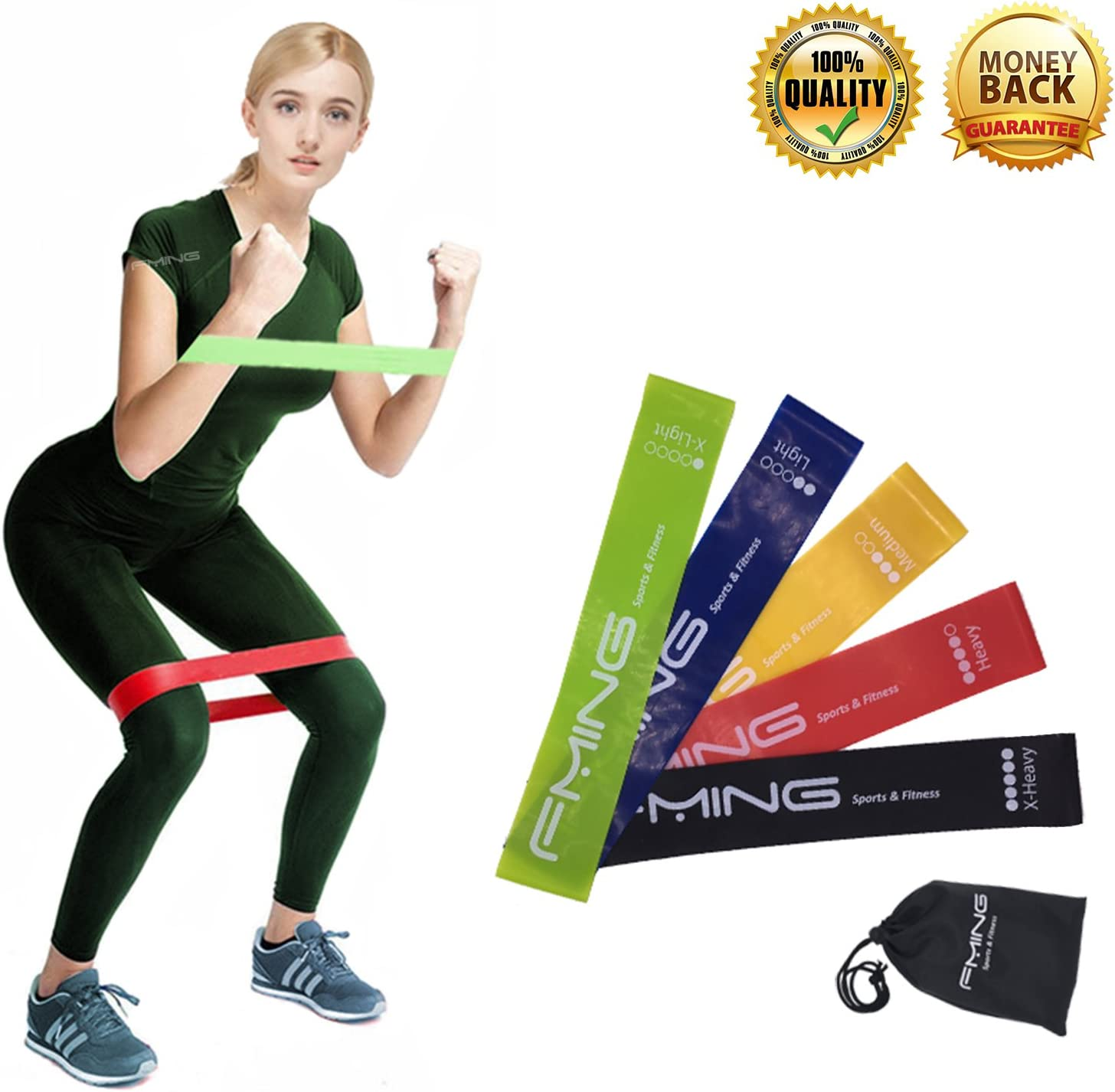 YOGA PILATES STRETCH HEAVY RESISTANCE LOOP BAND EXERCISE FITNESS GYM TRAINING