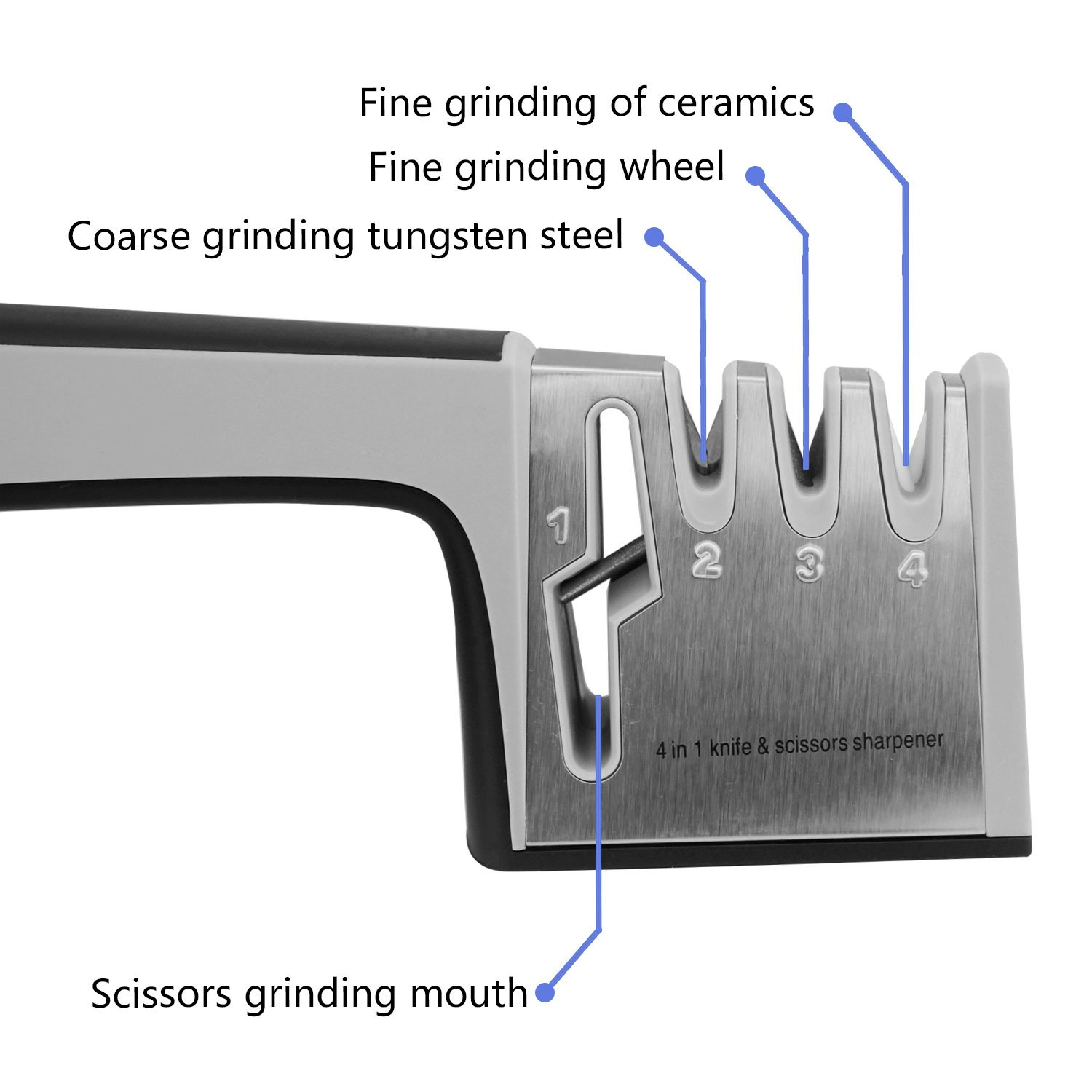 amazon com knife sharpening system 4 in 1 knife scissors