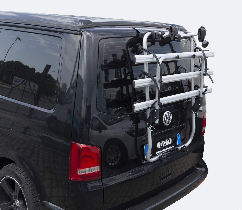 Shadow Portabici compatibile con VW T5 Multivan Bus Transporter Bulli 2003-2015 per 3 biciclette
