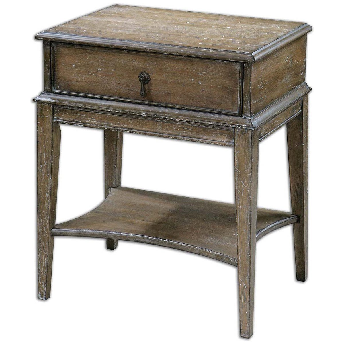 Amazon.com: Uttermost 24312 Hanford Weathered Accent Table: Kitchen U0026 Dining