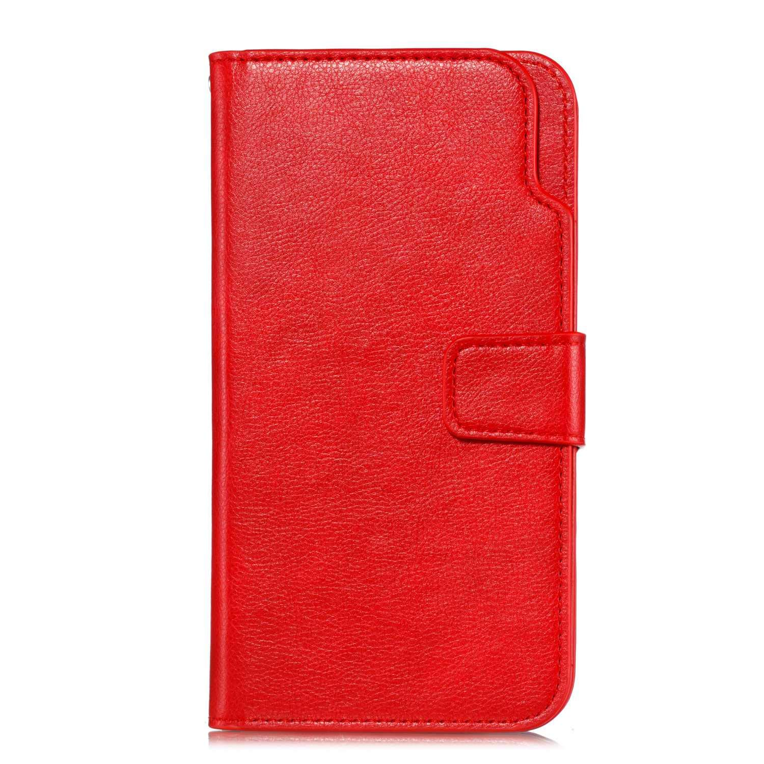 UNEXTATI Galaxy J8 2018 Wallet Case, Leather Folding Flip Case with 9 Card Holder, Classic Design Protective Cover Bumper Case for Samsung Galaxy J8 2018 (Red #4)