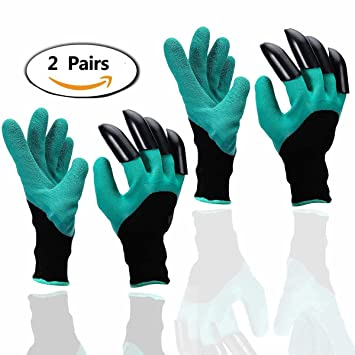 Garden Gloves,2 Pairs Thorn Proof Garden Genie Gloves For Digging And Roses  Cactus