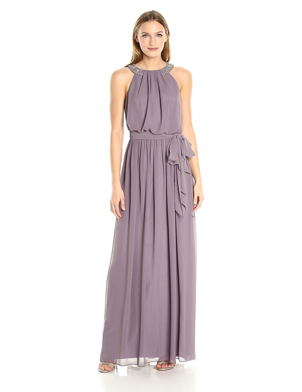 Amazon.com: Donna Morgan Women\'s Peyton Blouson Gown with Beaded ...