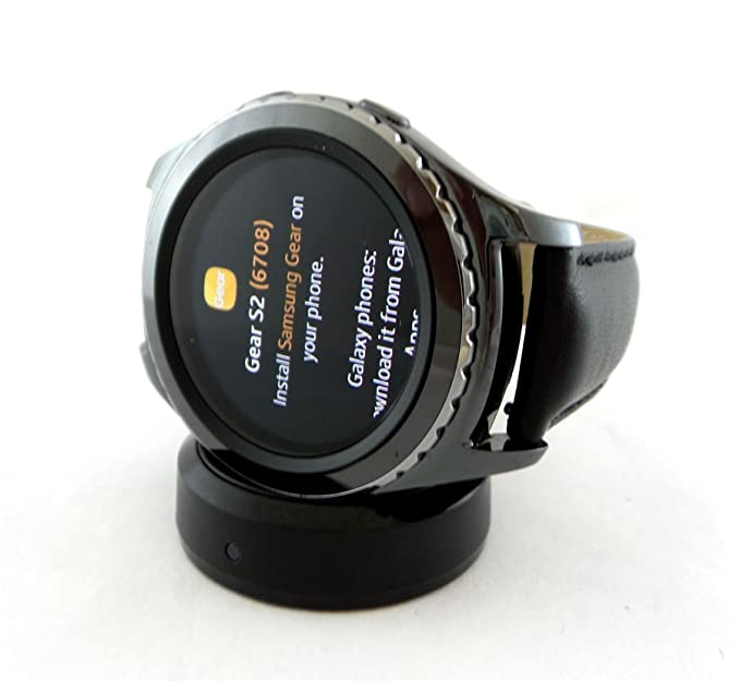 Samsung Gear S2 Classic Smartwatch 44mm Verizon Wireless with Leather Strap SM-R735VZKAVZW
