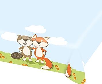 Mantel * Fox & Beaver * DE PAPEL para una fiesta temática o ...