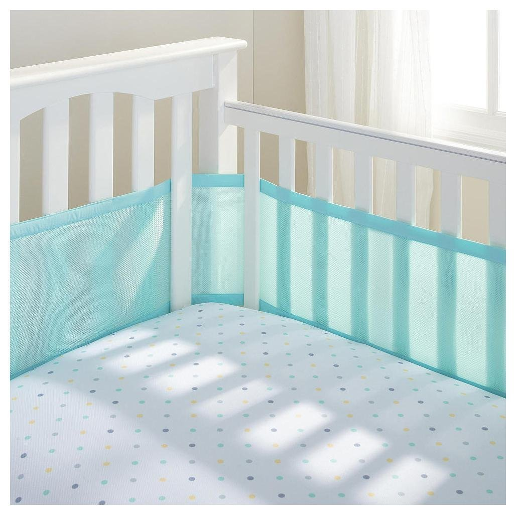 BreathableBaby Breathable Mesh Crib Liner- Aqua, 1 Pack 10224