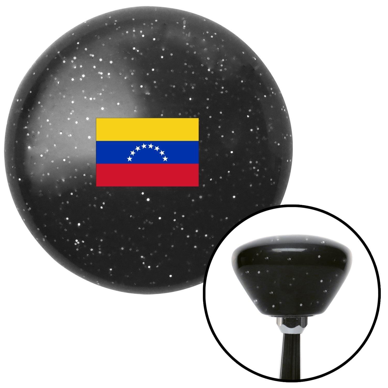 American Shifter 307603 Shift Knob Venezuela Black Retro Metal Flake with M16 x 1.5 Insert