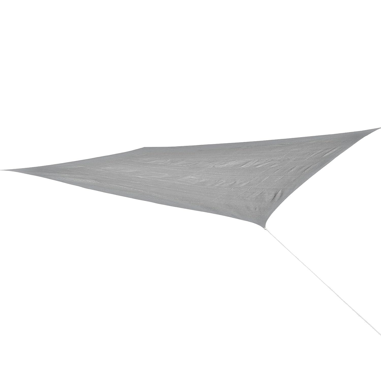 Corasol COR10RE6X4-SG Premium Sonnensegel 6 x 4 m, rechteckig, silbergrau