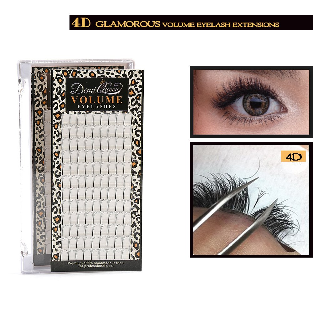 cabf16a6f20 Demi Queen 4D Premade Fans Russian Individual Volumes Rapid Cluster Lash  Extensions Thickness 0.07mm C