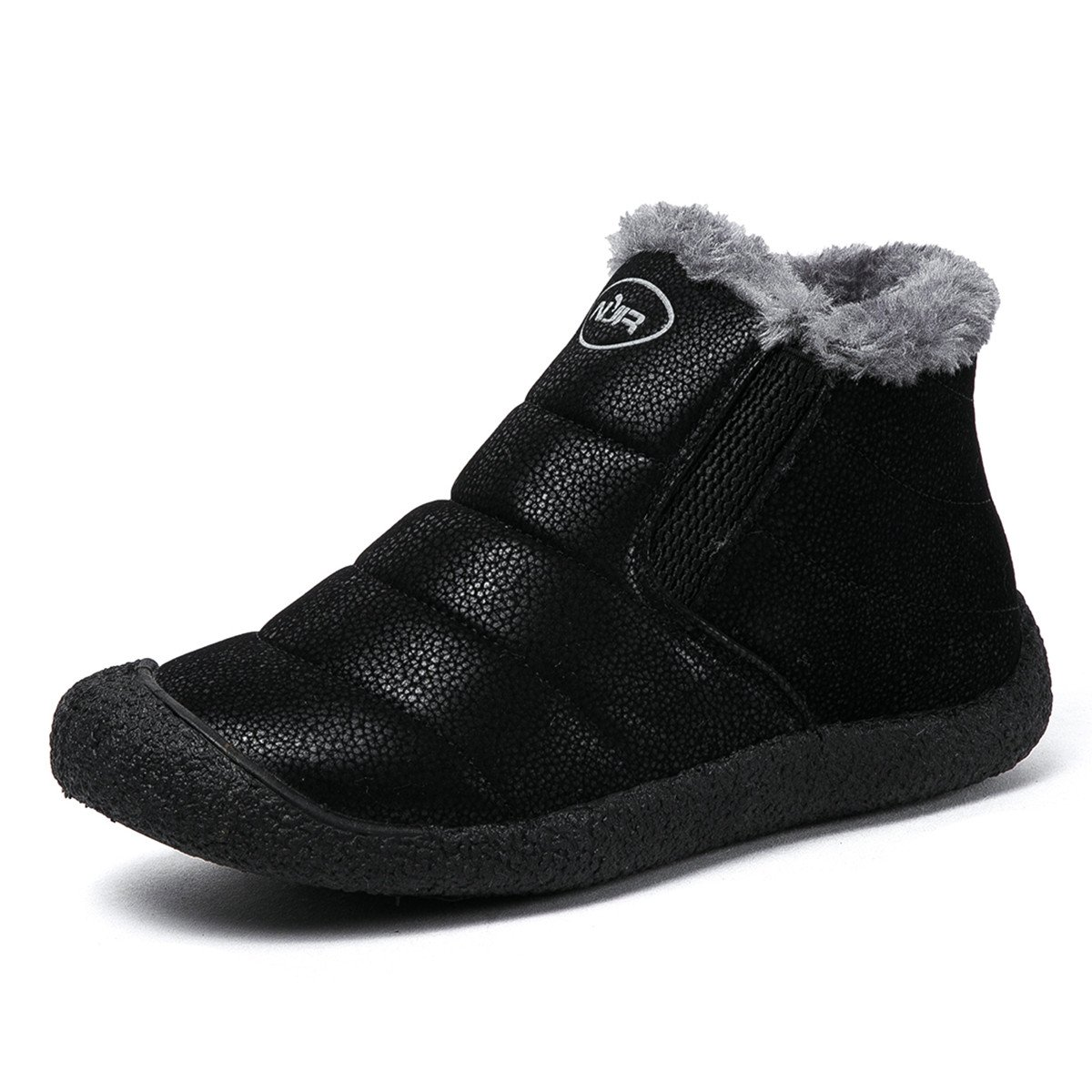 Gracosy Snow Boots, Winter Outdoor Slip On Ankle Snow Booties With Fur Lined, Unisex B075Z2Y94H Tag 41 Black