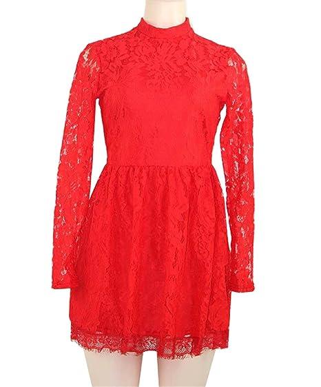Dabag Vestido De Fiesta Para Mujer Vestidos Cortos Encaje