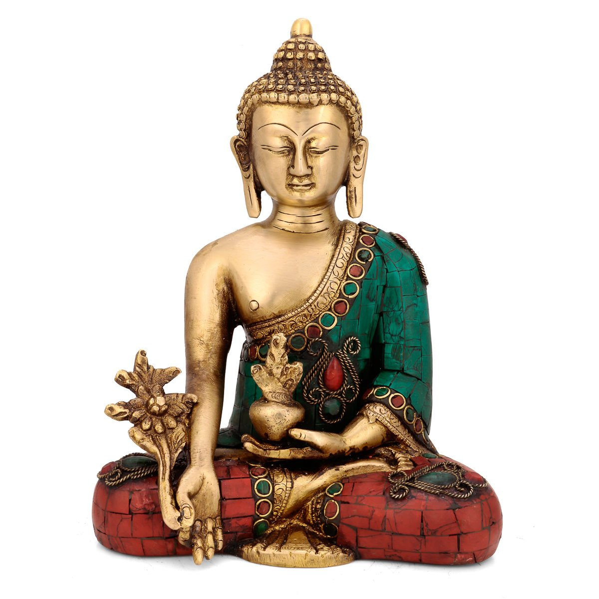 CraftVatika Beautiful Medicine Buddha statue Thai Buddhism Idol Buddhist Home decor