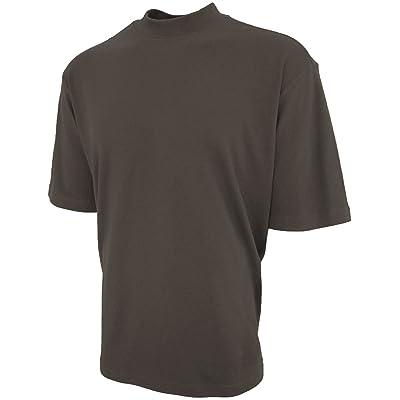 Good Life Brand 100% Cotton Mock Turtleneck Shirt Short Sleeved Pre-Shrunk 4 Colors