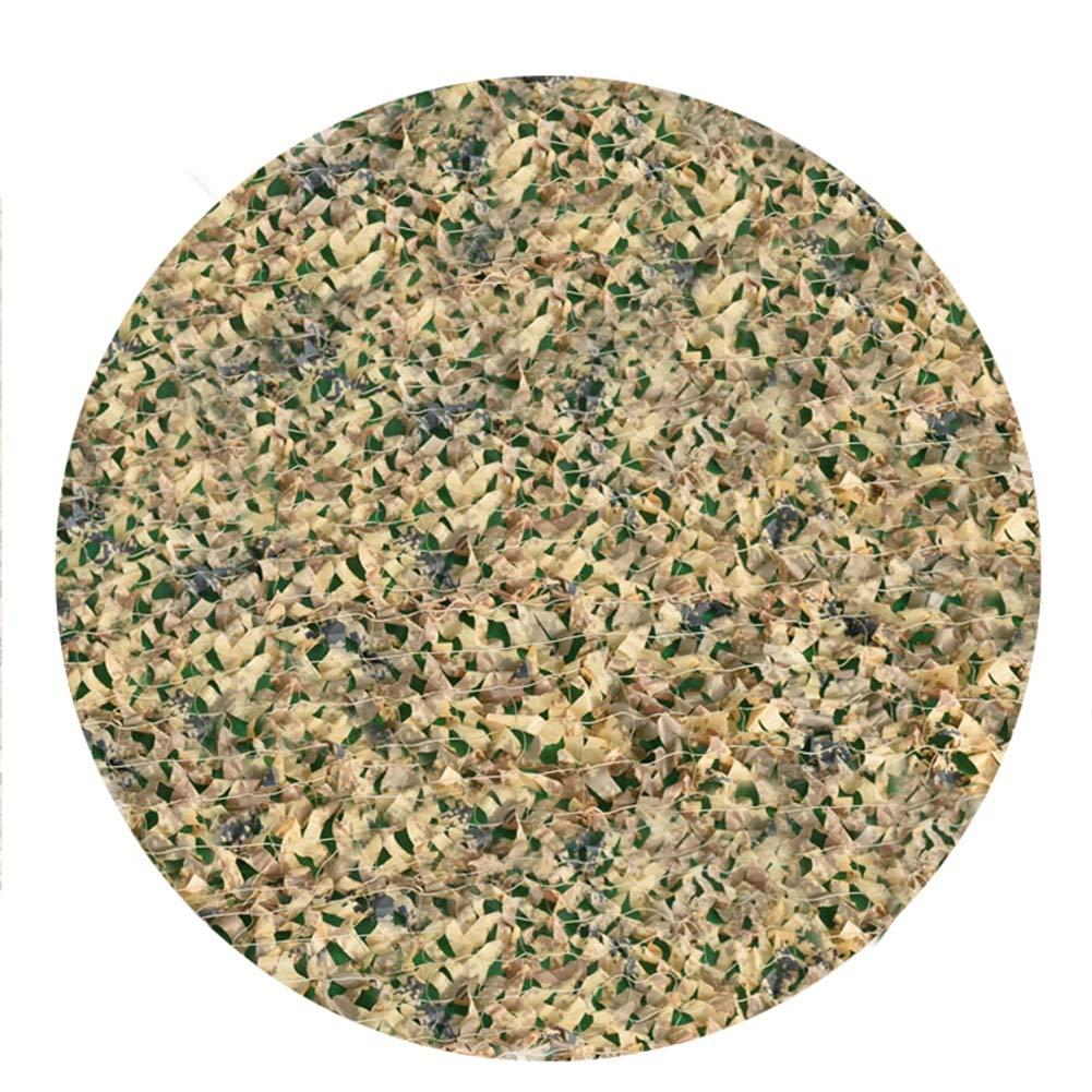 屋外迷彩ネットサンシェードネットターポリンダブル厚いオックスフォード布防塵装飾UV保護 (Color : Army green camouflage, Size : 7x10m) B07SYHPFQ3