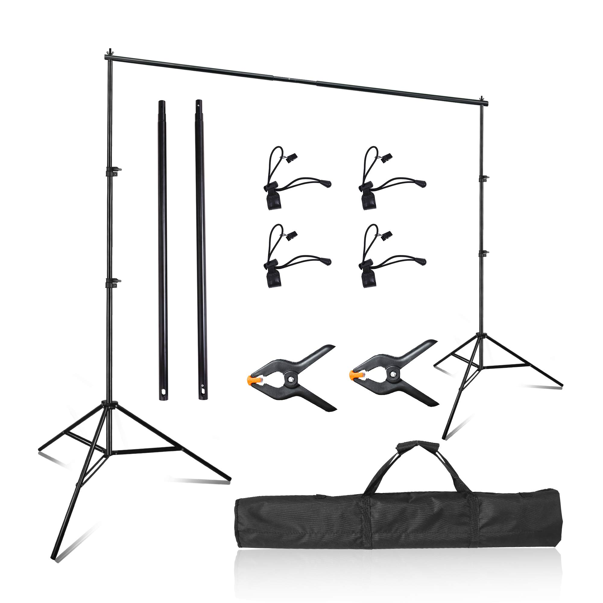 Emart Photo Video Studio 8 x 8 ft Backdrop Stand, Adjustable Photography Muslin Background Support System Kit with Carry Bag by EMART