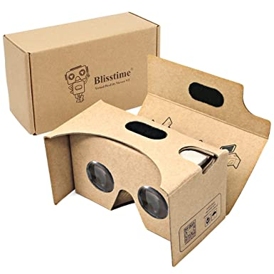 33f23f45343 Blisstime 2015 Google Cardboard V2.0 3d Glasses Vr Virtual Reality Cardboard  Kit 2015 Fit for 3--6inch Screen  Amazon.co.uk  Electronics