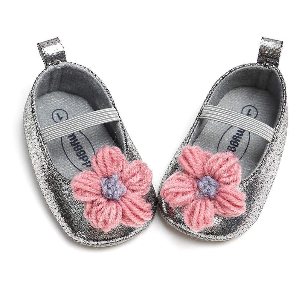 NUWFOR Newborn Baby Candy Color Striped Mesh First Walkers Soft Sole Casual Shoes(Yellow,12-18 Months) by NUWFOR (Image #4)
