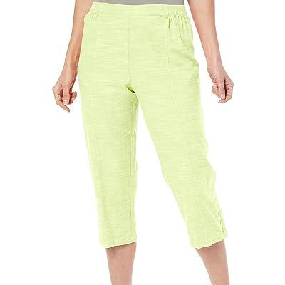 Cathy Daniels Women's Petal Pushers Studded Hem Pull On Capri Pants