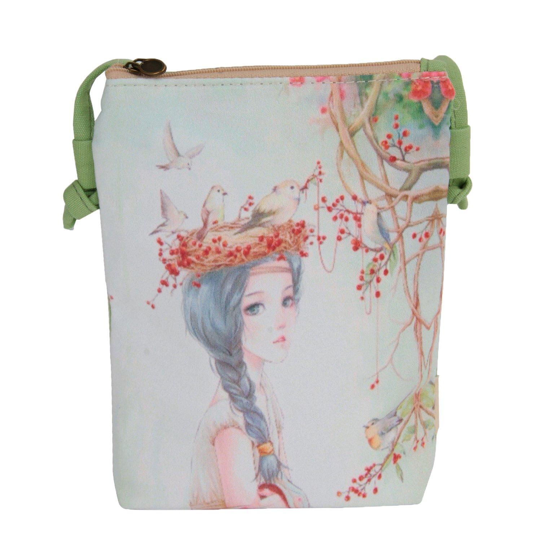 2c01b1099 Cute Canvas Mini Crossbody Handbags for Women Girls Teens Small Cell Phone Purse  Wallet Pouch Zippered Shouder Bag: Handbags: Amazon.com