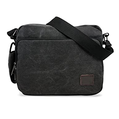 Amazon.com | Oct17 Men's Vintage Canvas Crossbody Bag Shoulder ...