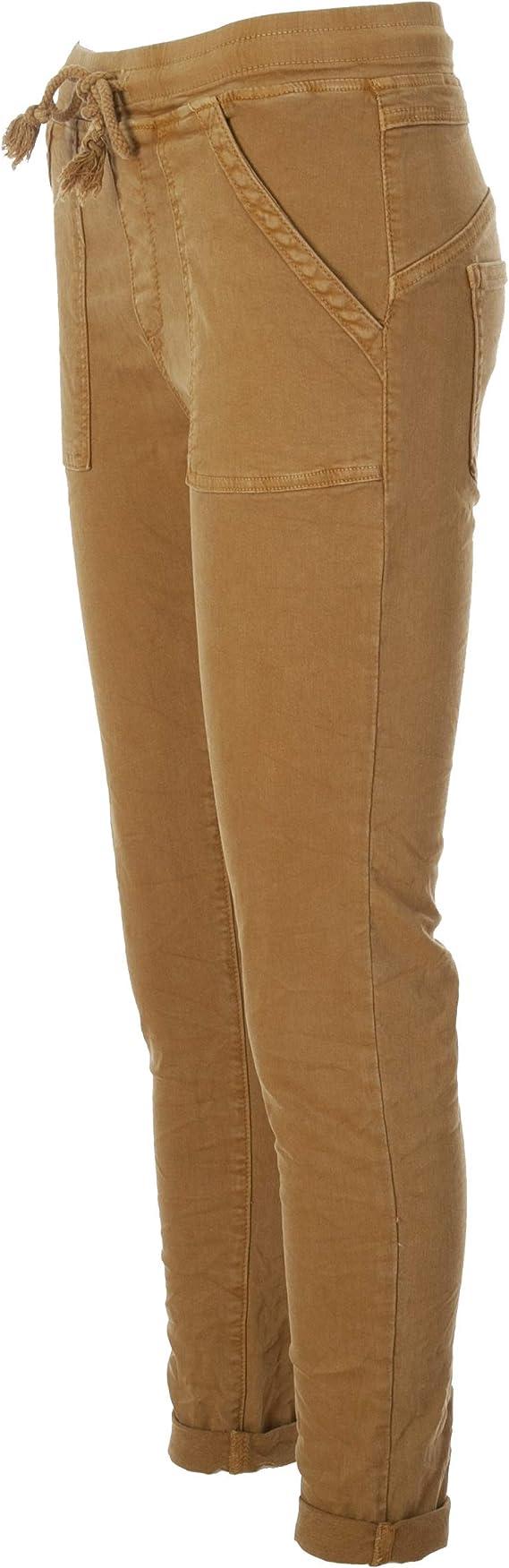 Pantalones para mujer con bolsillos laterales Basic.de Melly /& CO 8186
