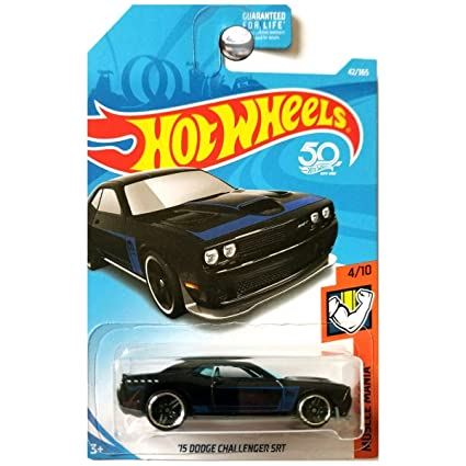 e3fea41d8935d Hot Wheels 2018 50th Anniversary Muscle Mania '15 Dodge Challenger SRT  42/365, Black