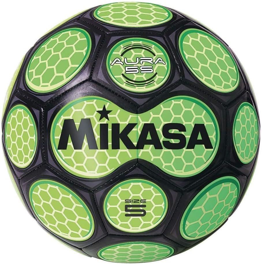 Mikasa Soccer Ball Black//Neon Green Size 5
