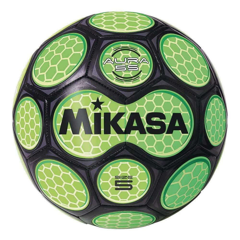 Mikasa balón de fútbol, Unisex, SAR50-BKG, Black/Neon Green ...