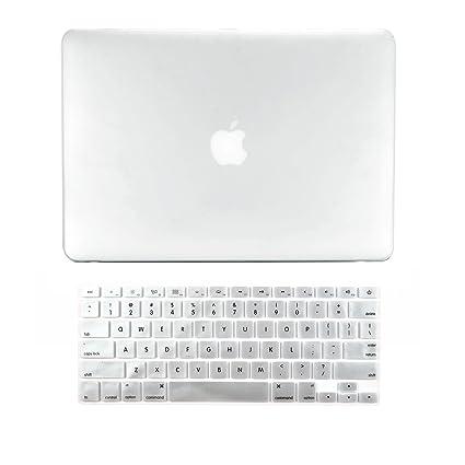 Carcasa superior – 2 en 1 paquete de oferta carcasa rígida de goma + Cubierta de teclado para MacBook blanco de 13