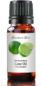 Grandma's Home Essential Oils - 100% Pure Therapeutic Grade (Lime, 10 mL)