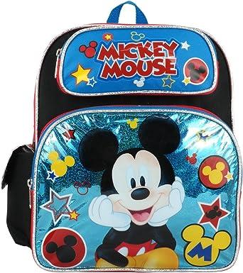 "Disney Mickey Mouse 16/"" Kids School Backpack Blue Book Bag Original Disney"