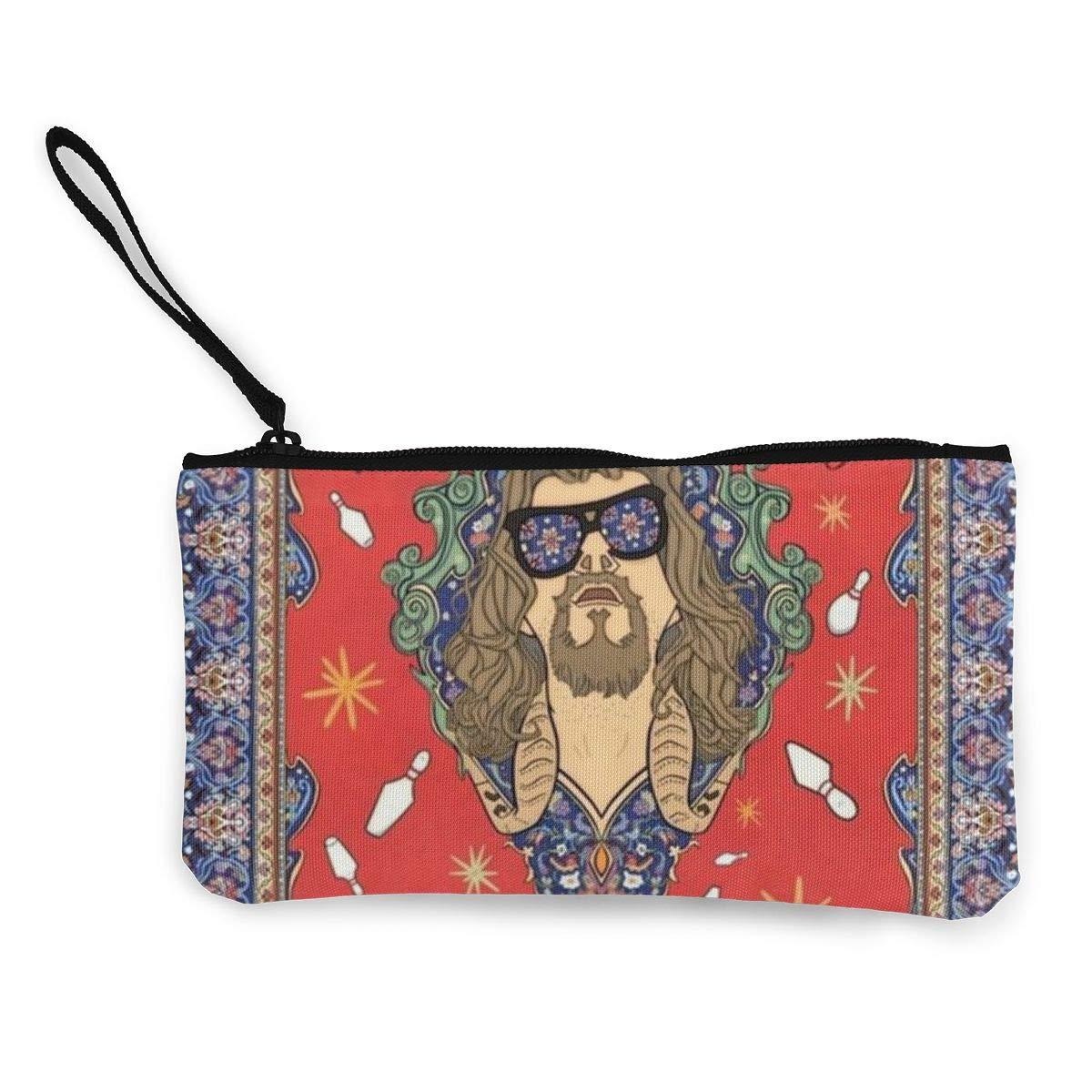 Orange Geometric Womens Canvas Coin Purse Mini Change Wallet Pouch-Card Holder Phone Wallet Storage Bag,Pencil Pen Case