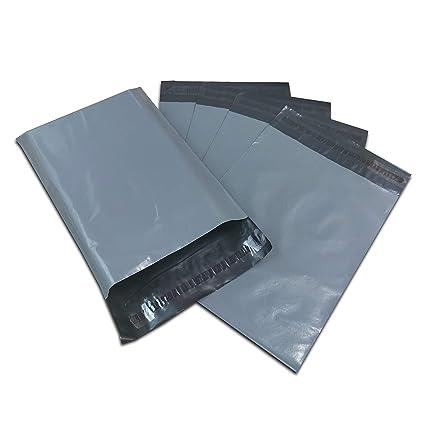 50 bolsas de plástico gris para envíos postales de correo de 12 x 16 pulgadas