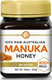 RAW MANUKA HONEY MGO 820+ (NPA 20+) 8.8oz (250g) Medicinal Strength - Highest Certified Rating - BPA Free Jar - Cold Extraction - Independently Verified