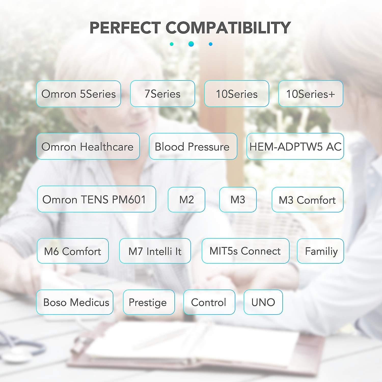 AGPTEK Adaptador de Corriente para Tensiómetro Omron 240V, 60Hz con Cable 2.3M Compatible M2 Basic,M2, M3, M3 Comfort, M6 Comfort, M7: Amazon.es: ...