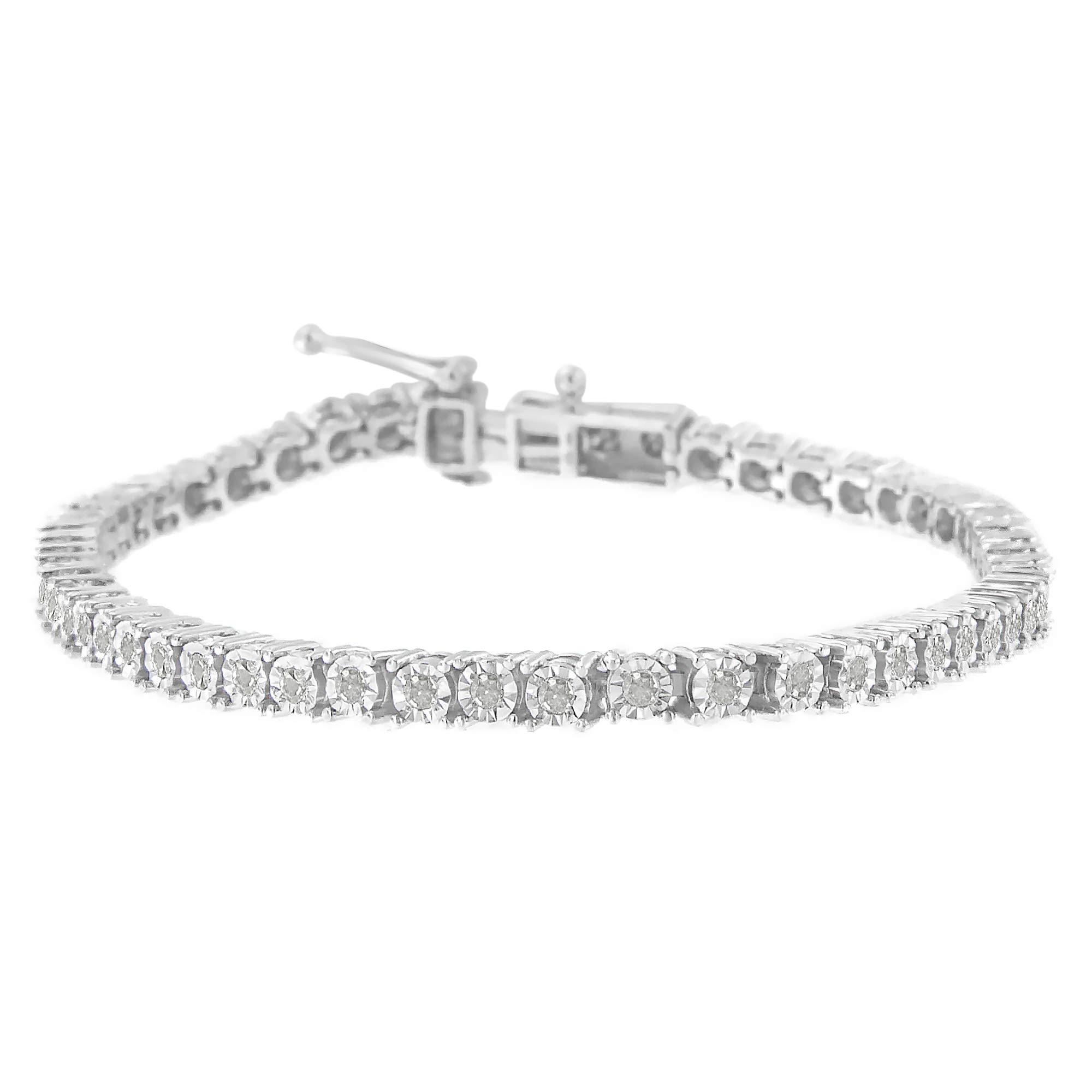 Original Classics Sterling Silver Rose-Cut Diamond Tennis Bracelet (1 cttw, I-J Color, I3-Promo Clarity) by Original Classics