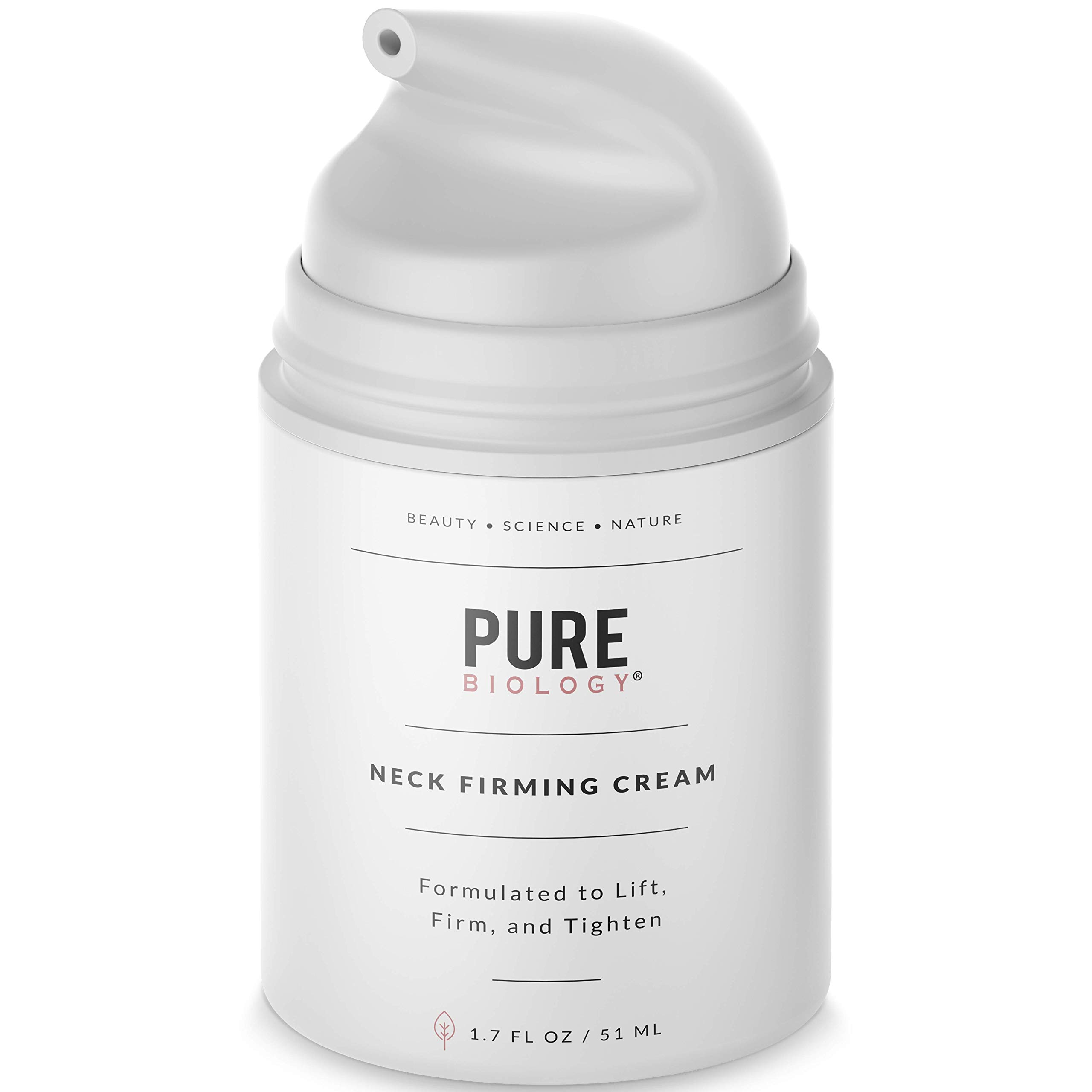 Premium Neck Cream with Vitamin C & E, Hyaluronic Acid & Breakthrough Anti Aging Complexes to Reduce Appearance of Wrinkles & Fine Lines - Neck, Chest & Décolleté Skin Care for Men & Women by Pure Biology