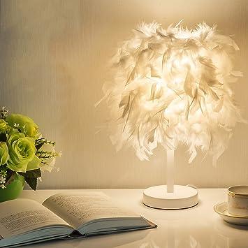 Fantastisch MILUCE Einfache Ideen Hochzeit Raum Wohnzimmer Schlafzimmer Nachttischlampe  Fashion Federn YSTD 075 (weiß)