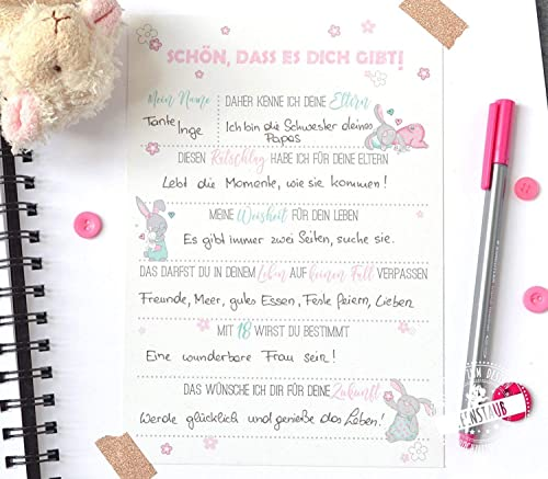Gästebuch Taufe Babyparty Baby Shower Geschenk 10 Karten Zum Ausfüllen Ratschlägen Und Wünschen