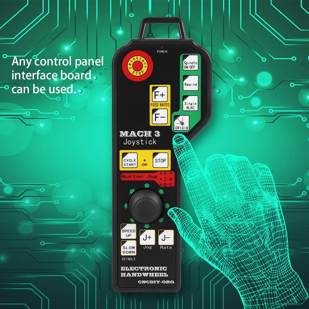 Control de 6 Ejes de Controlador Manual de M/áquina de Grabado CNC Industrial USB para Sistema Mach3 Multiherramientas