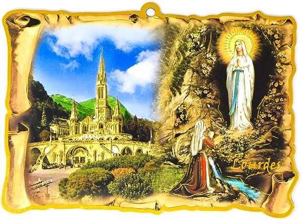 Catholic Gift Shop Ltd Sagrada Familia Placa de Pared Plegable y Lourdes Tarjeta de oraci/ón