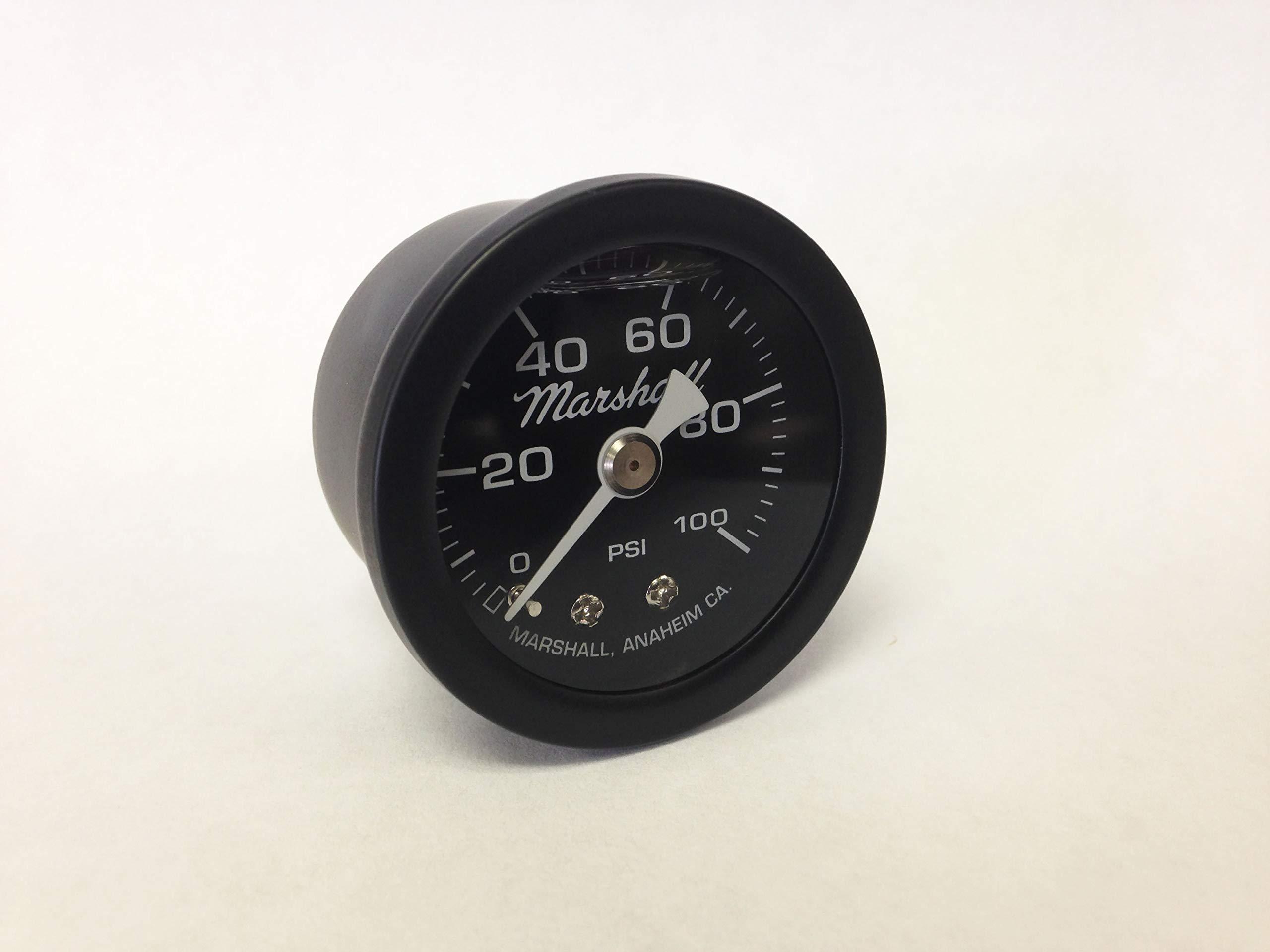 Marshall Instruments MSB00100 Liquid Filled Fuel/Oil Pressure Gauge Black by Marshall Instruments