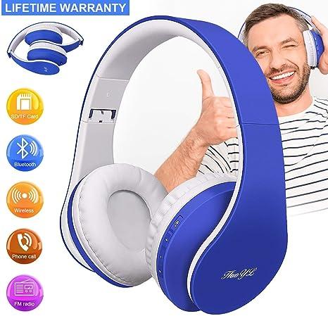 Auriculares Inalámbricos Bluetooth, Auriculares de Diadema Estéreo, Auriculares Plegable con Micrófono Manos Libres Bluetooth