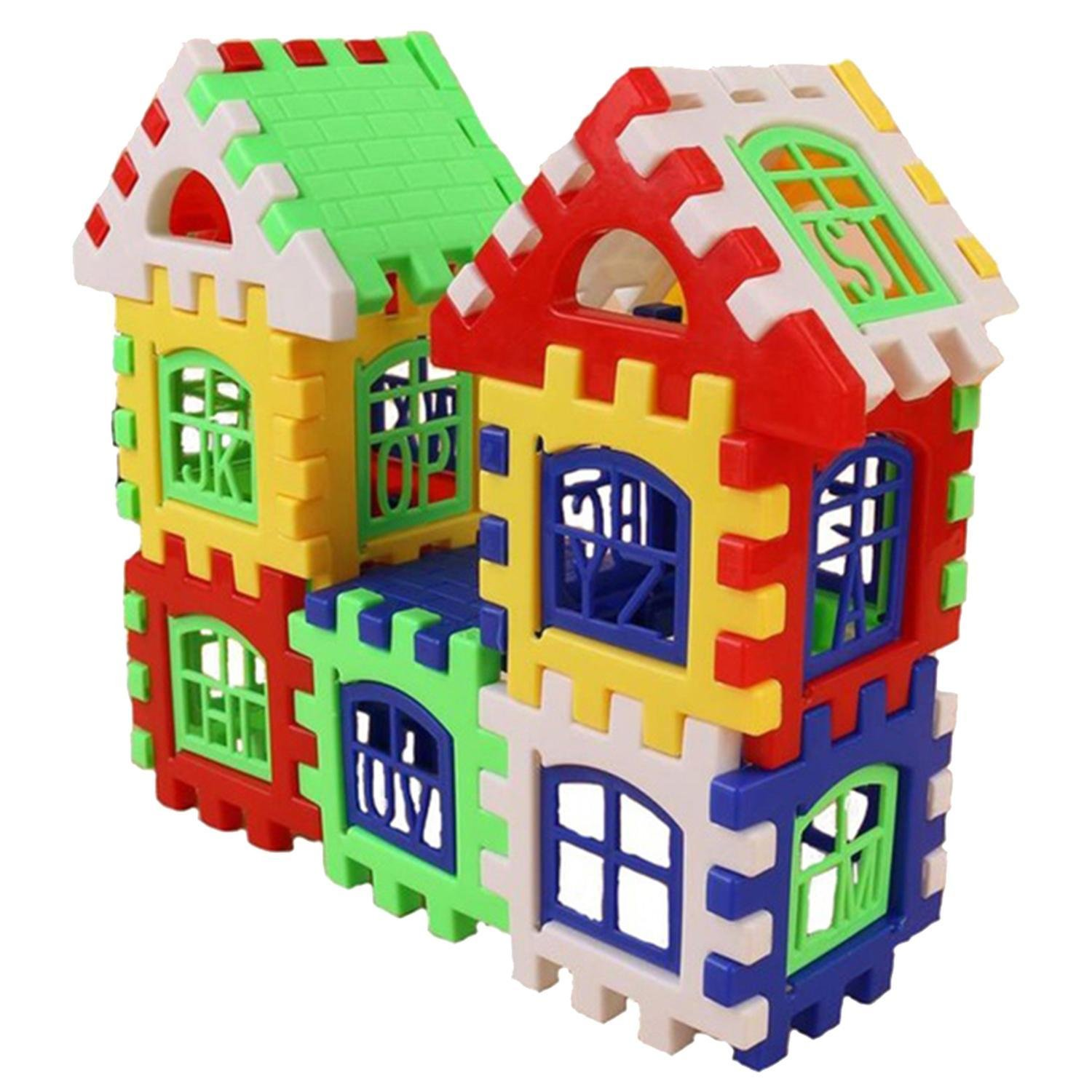 Aelove 24pcs DIY House Building Blocks Toys Kids Creative Educational Construction Toy