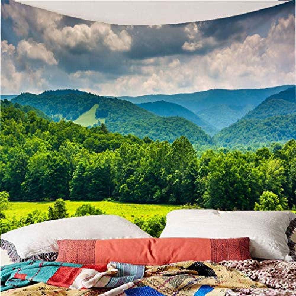 X150 W Cm HYZDR Arazzo 3D Green Stampa Grande Foresta da Parete Arte Decoration-Can Essere utilizzato Come Biancheria da Letto Divano materassino Yoga Tapesty Multiuso 130 H